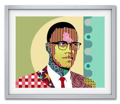 Malcolm X Wall  Art Malcolm X African American Social by iQstudio