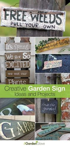 Creative Garden Sign Ideas and Projects • Lots of great Ideas and Tutorials! (scheduled via http://www.tailwindapp.com?utm_source=pinterest&utm_medium=twpin&utm_content=post595663&utm_campaign=scheduler_attribution)