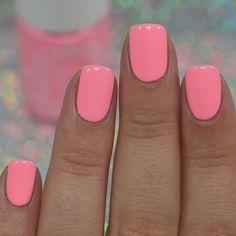 Pink Toe Nails, Cute Gel Nails, Summer Toe Nails, Short Gel Nails, Neon Nails, Cute Acrylic Nails, Pretty Nails, Bright Gel Nails, Short Pink Nails