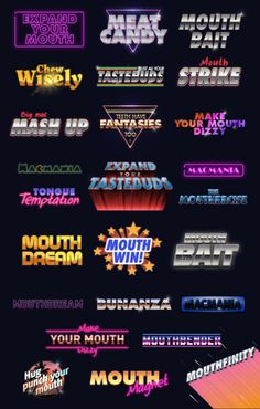 A Dutch Design Director currently based in London. Typography Fonts, Graphic Design Typography, Lettering, New Retro Wave, Retro Waves, Logos Retro, 80s Logo, Neon Logo, Game Logo