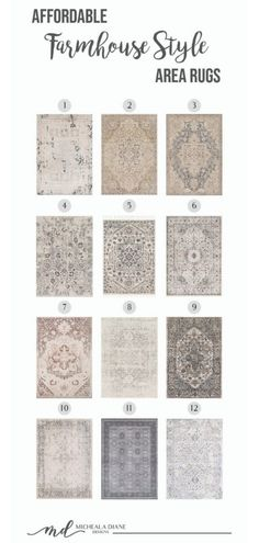 Affordable Farmhouse Style Rugs Collection of beautiful and affordable area rugs that are the perfect compliment to any farmhouse Farmhouse Style Rugs, Farmhouse Area Rugs, Modern Farmhouse Decor, Farmhouse Style Decorating, Budget Decorating, Industrial Farmhouse, 8x10 Area Rugs, Large Area Rugs, Modern Area Rugs