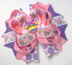 Hey, I found this really awesome Etsy listing at https://www.etsy.com/listing/261550408/mouse-easter-hair-bow-boutique-handmade