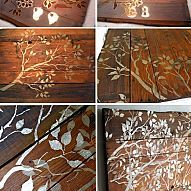 Here's a cute stencil idea: stencil on wood to create rustic wall art… :: Hometalk