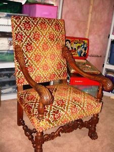 fantastic DEVIL LION PAW FEET carved walnut chair PARLOUR THRONE City of Toronto Toronto (GTA) image 8
