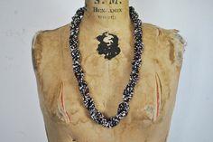 BRAIDED Beaded Necklace / southwestern by badbabyvintage on Etsy
