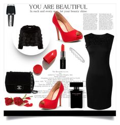 """:$"" by dzeniita10 ❤ liked on Polyvore featuring Alice + Olivia, Chanel, Narciso Rodriguez, NARS Cosmetics, Smashbox, OPI and Epoque"