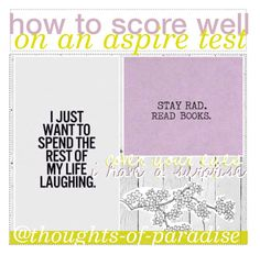 """""""how to score well on an aspire test"""" by thoughts-of-paradise ❤ liked on Polyvore featuring art and tips2k17"""