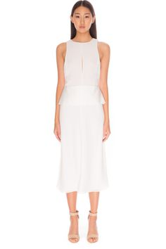 C/MEO COLLECTIVE COUNTING START DRESS IVORY - BNKR