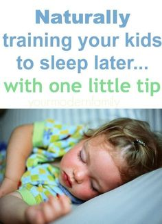 If your kids are waking up too early, you have to do this one!!  It really helps!
