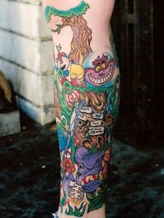 Alice in Wonderland Tattoo.  The clouds have parted and the Angels Sing!  I love this so much.