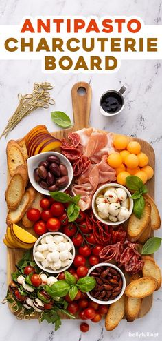 Enjoy a simple and beautiful Italian antipasto platter this summer! With fresh garden fruit, cured meat, cheeses, and bread, this Charcuterie Board is so delicious, easy to put together, and fun to eat! #spon #galbani #galbanifreshmozzarella