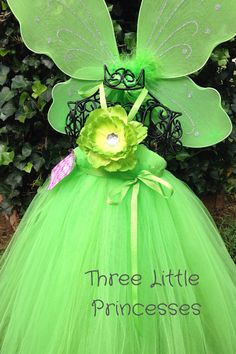 Tinkerbell Inspired Tutu Dress Costume  by joyfullymadeboutique, $55.00