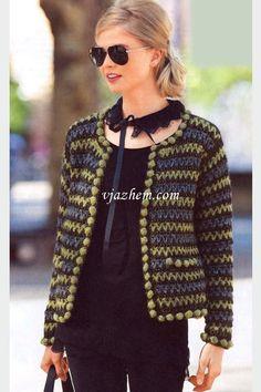 gráficos de casaquetos em crochet