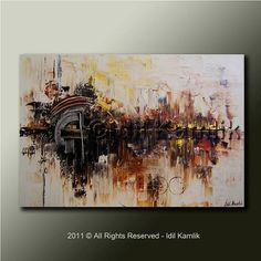 Original ABSTRACT Modern PAINTING Textured by StudioSweetShadows, $315.00