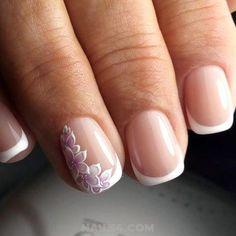 french nail designs 25 Beautiful French Nail Art Designs For You / Orderly Cutie Art French Nails, French Manicure Nails, French Acrylic Nails, French Nail Designs, Best Nail Art Designs, Cute Nails, Pretty Nails, Bride Nails, Nail Polish
