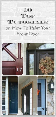 Tutorials on How To Paint Your Front Door