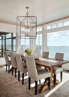 Inspiring Dining Room Sets For Your Home Design Improvement Farmhouse Dining Room design Dining home Improvement Inspiring Room Sets Home Interior, Interior Design, Coastal Interior, Classic Interior, Apartment Interior, Interior Doors, Farmhouse Dining Room Table, Dining Chairs, Rustic Table