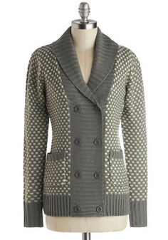 Informational Interview Cardigan. Preparing for a career shift? #grey #modcloth