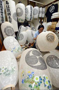 Making Obon lanterns, Fukushima. S)