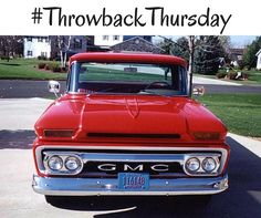 Its hard not to smile when you see a vintage #GMC truck! #TBT