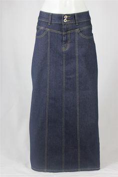 Casual Comfort Long Jean Skirt, Sizes 4-14: theskirtoutlet.com