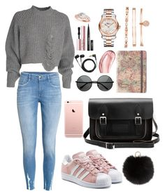 """""""outfit"""" by kwharmony on Polyvore featuring H&M, Sennheiser, Chopard, Allurez, Anne Klein, Too Faced Cosmetics, Chantecaille, adidas Originals and Yves Salomon"""