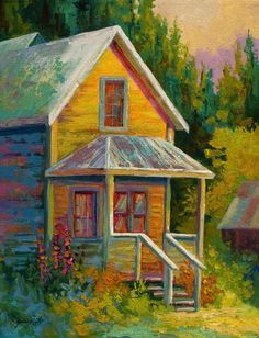 Great Big Canvas Barkerville by Marion Rose Painting Print on Wrapped Canvas Size: H x W x D Rose Painting, Great Big Canvas, Canvas, Painting, Painting Prints, Art, Canvas Art, Trademark Art, Trademark Fine Art