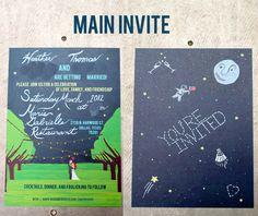 amazingly cute romantic wedding invitation