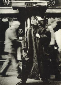 Yohji Yamamoto :  Loose Coat with Crushed Effect, Autumn Winter 1984 – 1985.
