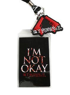My Chemical Romance I'm Not Okay Lanyard | Hot Topic