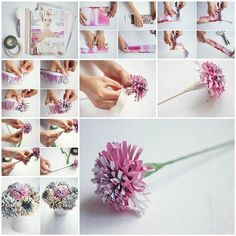 DIY Beautiful Flowers from Old Magazine 3