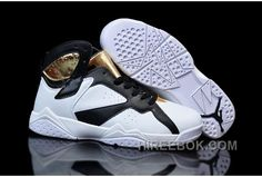 """save off d6ce8 5519c Girls Air Jordan 7 """"Champagne"""" White Gold Black Shoes Free Shipping Tjxtmt,  Price   92.00 - Reebok Shoes,Reebok Classic,Reebok Mens Shoes"""