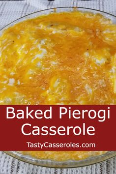 This baked pierogi casserole recipe makes a great side dish or main dish meal. You start with a few boxes of frozen pierogies and end up with a delicious casserole that your whole family will love. Pierogi Casserole, Casserole Dishes, Casserole Recipes, Hamburger Casserole, Chicken Casserole, Veggie Dishes, Pasta Dishes, Frozen Pierogies, Vegetarian Recipes