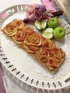 Apple Rosette Tart