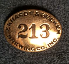 Employee badge for Ekhardt & Becker (E&B) Brewing Co.