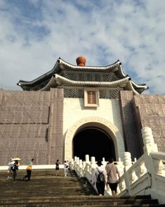 Chang Khai Shek Memorial Hall. Building is seen from the front stairs. #taiwan #travel #culture #newlife