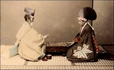 Shinto Priest and an Actor playing a game of go