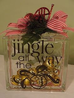 Glass Block - Click image to find more Holidays & Events Pinterest pins