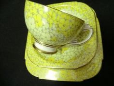 STUNNING & RARE Paragon art deco tea trio