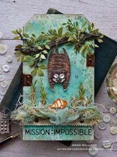 Simon Says: Four Legged Friends - Simon Monday Challenge Blog Hand Made Greeting Cards, Making Greeting Cards, Crazy Bird, Crazy Cats, Tim Holtz Dies, Theme Tunes, Simon Says Stamp Blog, Stampers Anonymous, Ranger Ink