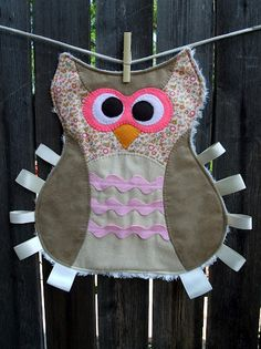 Just Another Hang Up: Maggie the Taggie Owl Tag Blanket Pattern & Tutorial