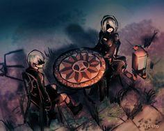 Video Game Art, Video Games, Drakengard Nier, Neir Automata, Anime, Darth Vader, Fan Art, Desktop Wallpapers, Drawings