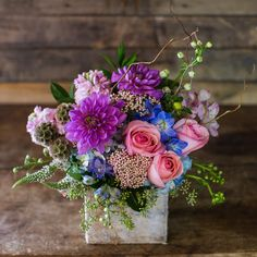 Beautiful Flowers in Purples, Pinks, and Blues for Mother's Day!