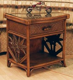 Cancun Palm 1 Drawer Nightstand >>> Click for Special Deals #ChristmasGifts