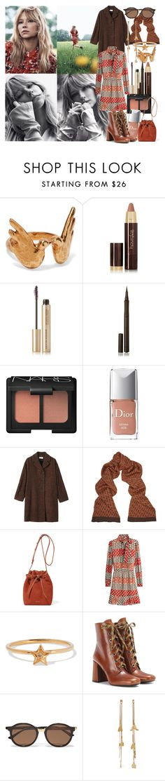 """She threw herself at heartbreak, like a moth drawn to a flame, patching up her broken wings, just to try it once again"" by brownish ❤ liked on Polyvore featuring Chloé, Hourglass Cosmetics, Kevyn Aucoin, Burberry, NARS Cosmetics, Christian Dior, Toast, Missoni, Mansur Gavriel and RED Valentino"