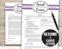 modern resume cover letter template editable word