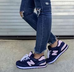 Blogger Sarah Lindner of The House of Sequins wearing New Balance WL515 sneakers