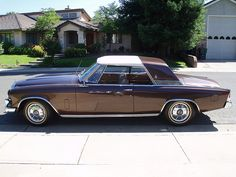 On the other hand.. This variation on the basic '53 Loewy Studebaker coupe, the 1962-64 GT Hawk, is quite pleasing. Studebaker-Packard dropped the Packard from their name in 1962 instead of designating this car a Packard. Big mistake.
