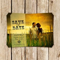 Rustic Charm Save the Date Photo Card - Personalized Printable Vintage Wedding Announcement Save The Date Examples, Save The Date Photos, Our Wedding Day, Dream Wedding, Wedding Things, Wedding Stuff, Wedding Invitation Cards, Invitation Ideas, Invites