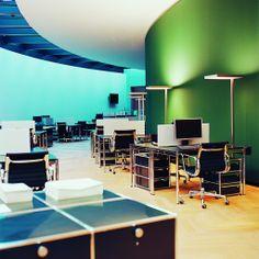 Modernes Arbeiten im Großraumbüro